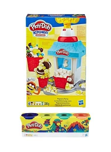 Hasbro Play-Doh Patlamiş Misir Partisi Ve Play-Doh 4'Lü Hamur Renkli